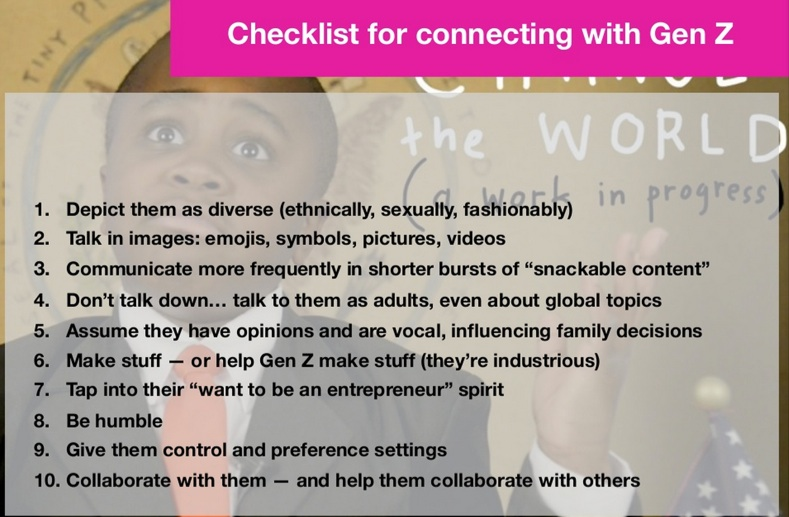 FIGURE Checklist for Connecting w: Generation Z