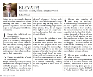 ARTICLE ©Whitesel Beyond Branding OUTREACH Mag PICTURE