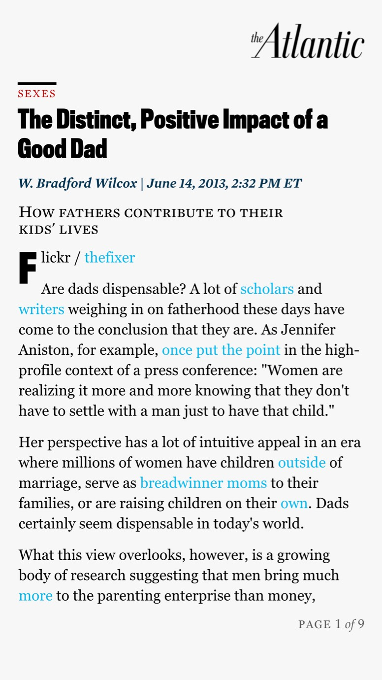 The Distinct Positive Impact Of Good Dad >> Parenting Research Uncovers The Distinct Positive Impact