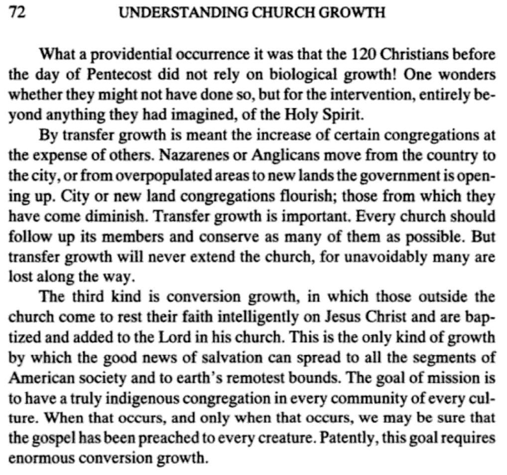 EXCERPT McGavran Transfer & Conversion Growth