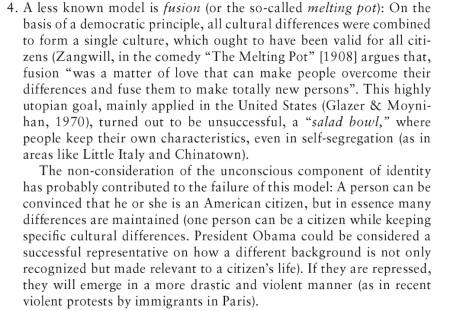 EXCERPT Agostino Portera Intercultural 2010 p. 10-11 Metling Pot
