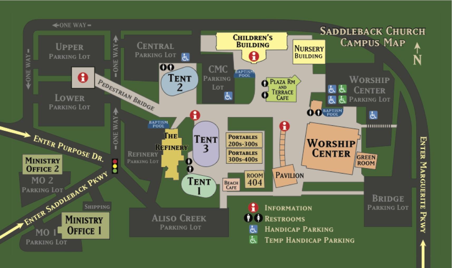 saddleback church campus map Rick Warren Churchleadership Wiki saddleback church campus map