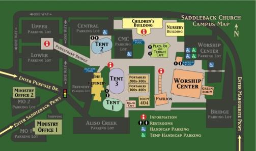 Saddleback Church Lake Forest Campus Map.Rick Warren Churchhealth Wiki